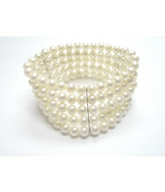 Freshwater Pearl 5 Row Stretchy Bracelet